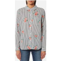 Rails Women's Taylor Shirt with Flowers - Florence Stripe - XS - Multi