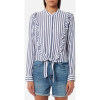 Rails-Womens-Piper-Shirt-Ocean-White-Stripe-L-Multi