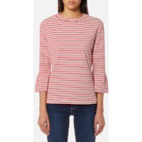 Maison Scotch Womens Clean Flared Short Sleeve T-Shirt - Red - S - Red