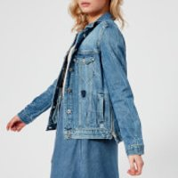 Maison Scotch Womens Customised Trucker Jacket - Blauw Me - L - Blue