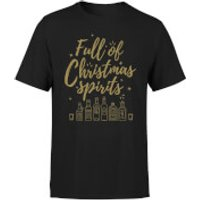 Full Of Christmas Spirits T-Shirt - Black - XL - Black