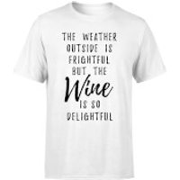 Wine Is So Delightful T-Shirt - White - M - White