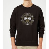 Hoppy New Beer Sweatshirt - Black - L - Black - Beer Gifts