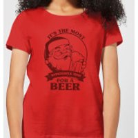 The Most Wonderful Time For A Beer Women's T-Shirt - Red - XXL - Red - Beer Gifts