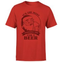 The Most Wonderful Time For A Beer T-Shirt - Red - XL - Red