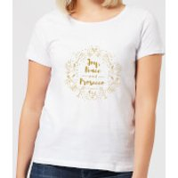 Joy, Peace And Prosecco Women's T-Shirt - White - XXL - White - Peace Gifts