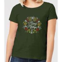 Hoppy Holidays Women's T-Shirt - Forest Green - XXL - Forest Green - Holidays Gifts