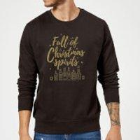 Full Of Christmas Spirits Sweatshirt - Black - XXL - Black