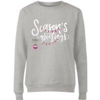 Seasons Greetings Grey Ladies Sweatshirt - S - Grey