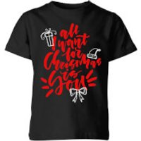 All i want for Christmas Kids' T-Shirt - Black - 5-6 Years - Black