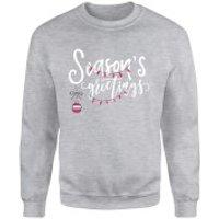 Seasons Greetings Grey Sweatshirt - XL - Grey