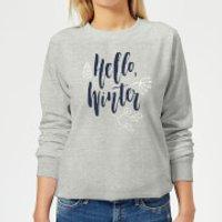 Hello Winter Women's Sweatshirt - Grey - XS - Grey
