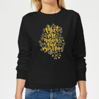 Meet Me Under The Mistletoe Women's Sweatshirt - Black - 5XL - Black - Mistletoe Gifts