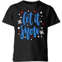 Let it Snow Kids' T-Shirt - Black - 7-8 Years - Black