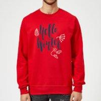 Hello Winter Sweatshirt - Red - XXL - Red