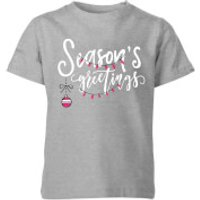 Seasons Greetings Kids T-Shirt - Grey - 5-6 Years - Grey