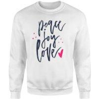 Peace Joy Love Sweatshirt - White - XL - White