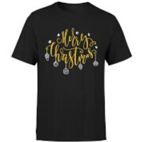 Merry Christmas T-Shirt - Black - S - Black