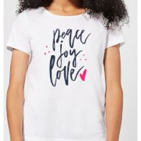 Peace Joy Love Women's T-Shirt - White - XXL - White - Peace Gifts