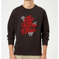 All i want for Christmas Sweatshirt - Black - XXL - Black