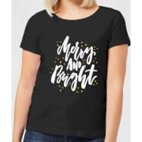 Merry and Bright Women's T-Shirt - Black - S - Black