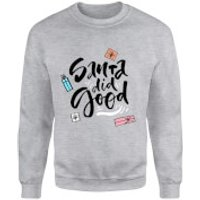 Santa Did Good Sweatshirt - Grey - XL - Grey