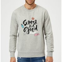 Santa Did Good Sweatshirt - Grey - XXL - Grey