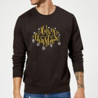 Merry Christmas Sweatshirt - Black - XL - Black