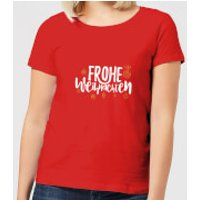 Frohe Weihnachten Women's T-Shirt - Red - M - Red