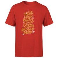 International Reindeer T-Shirt - Red - L - Red - Reindeer Gifts