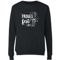 Frohes Fest Womens Sweatshirt - Black - M - Black