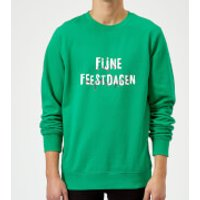 Fijne Feestdagen Sweatshirt - Kelly Green - XXL - Kelly Green