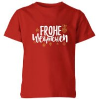Frohe Weihnachten Kids' T-Shirt - Red - 3-4 Years - Red
