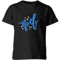 Noel Snowflakes Kids' T-Shirt - Black - 11-12 Years - Black