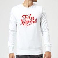 Feliz Navidad Sweatshirt - White - XL - White