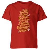International Reindeer Kids T-Shirt - Red - 3-4 Years - Red