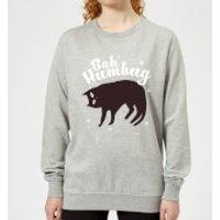 Bah Humbug Women's Sweatshirt - Grey - L - Grey