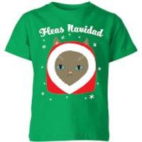 Fleas Navidad Kids T-Shirt - Kelly Green - 5-6 Years - Kelly Green