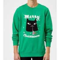 Merry Christmouse Sweatshirt - Kelly Green - M - Kelly Green
