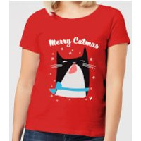 Merry Catmas Women's T-Shirt - Red - L - Red