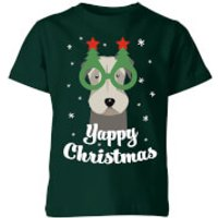 Yappy Christmas Kids T-Shirt - Forest Green - 5-6 Years - Forest Green