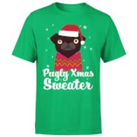 Pugly xmas Sweater T-Shirt - Kelly Green - L - Kelly Green