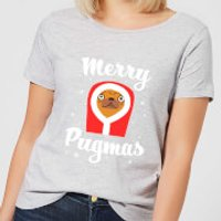 Merry Pugmas Women's T-Shirt - Grey - XXL - Grey