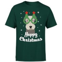 Yappy Christmas T-Shirt - Forest Green - S - Forest Green