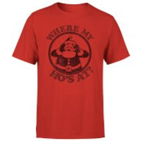 Where My Hos At T-Shirt - Red - XXL - Red