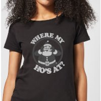 Where My Ho's At Black Women's T-Shirt - Black - L - Black