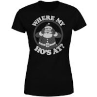 Where My Hos At Black Womens T-Shirt - Black - M - Black