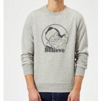 Believe Sweatshirt - Grey - XL - Grey