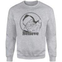 Believe Grey Sweatshirt - Grey - XL - Grey