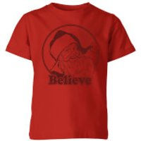 Believe Red Kids T-Shirt - Red - 11-12 Years - Red